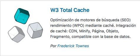 plugin w3 total cache