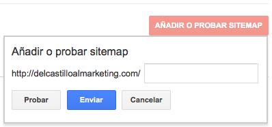 Enviar URL de nuestro Sitemap en Google Search Console