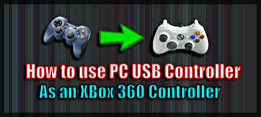 use USB controller as Xbox controller on PC