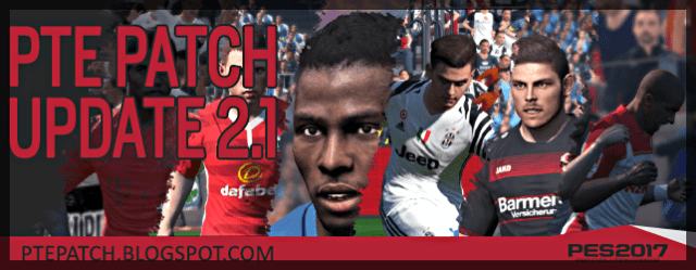 Patch PTE 2.1 update PES 2017
