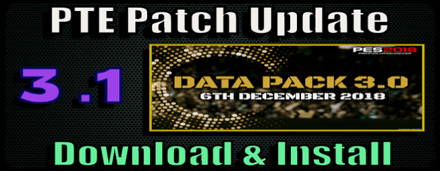 PTE Patch 3.1 Update for PES 2019 install and download on PC