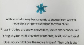 Frozen Themed Photo Session at Target – Springfield Mall PA 1/29 – 1/30 – Make Your Reservation