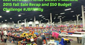 Just Between Friends Western Mainline 2015 Fall Sale Recap and $50 Budget Challenge #JBFPhilly