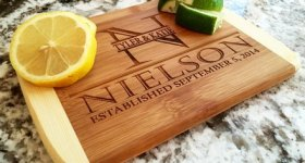 $5 Holiday Gift Idea! Personalized Bamboo Cutting Boards from Qualtry (regularly $29.99)