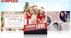 HOT Holiday Photo Card Deal!! Save up to 71% on Holiday Photo Cards from Staples!