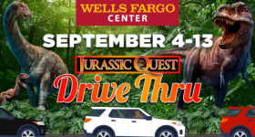 Jurassic Quest Drive Thru Experience Coming to Wells Fargo Center Philadelphia Sept 4-13 {& a Giveaway}