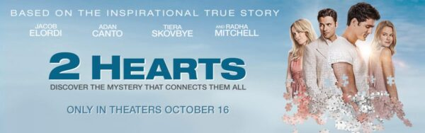 2 Hearts Movie Coming to Theaters October 16th {& a Fandango Giveaway} #2HeartsL3