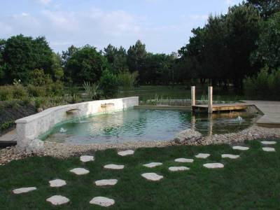Piscine naturelle Hourtin en Gironde