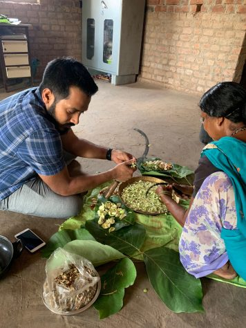 Chef Thomas Zacharias cooking Wild Foods in Jawhar Village - The Bombay Canteen JPG