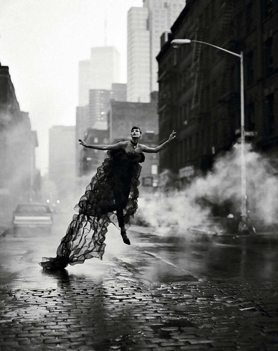 Evangelista in Chanel, New York, 1992. Photograph: Peter Lindbergh