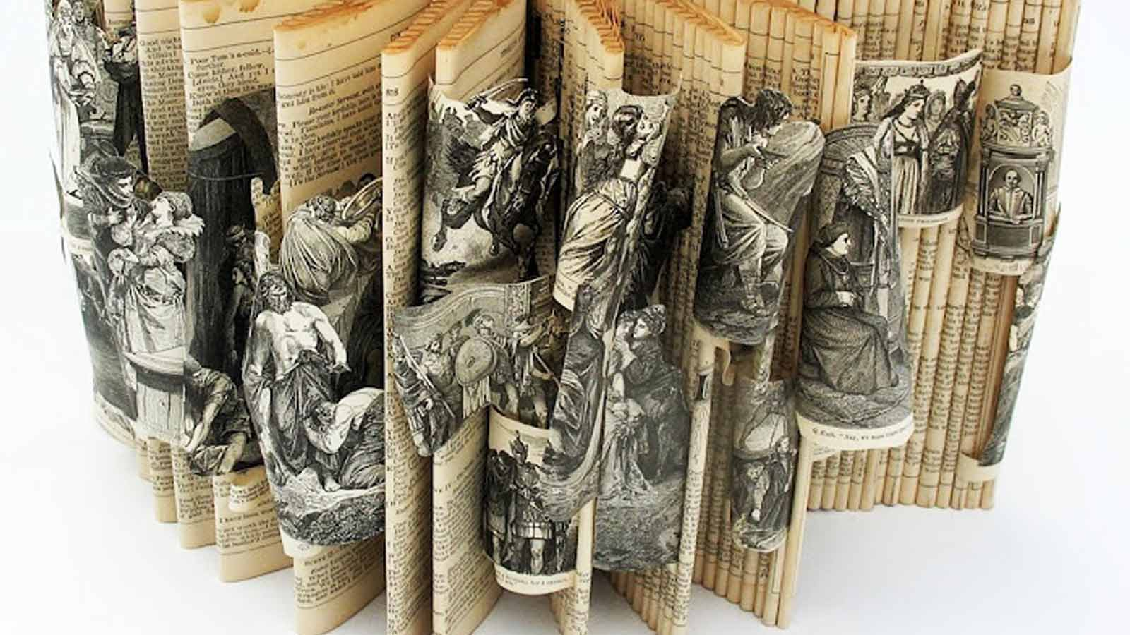 'The Complete Works of Shakespeare' book sculpture (2014), Anita Francis | source: Anita Francis, author provided