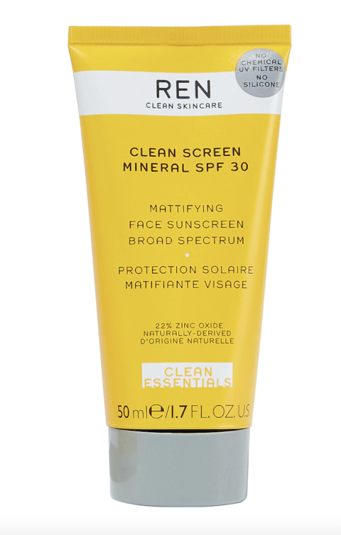 REN Skincare Clean Screen Mineral SPF30: Mattifying Face Sunscreen