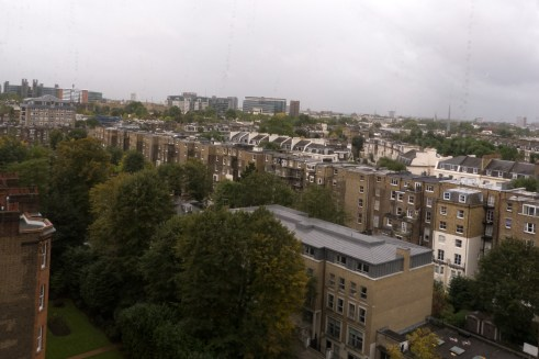 Cloudy London landscape