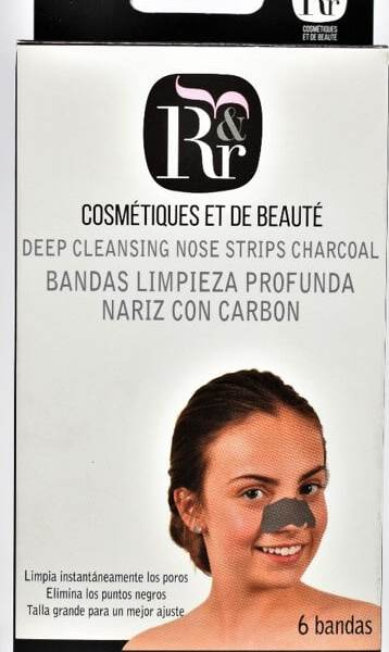 Bandas limpieza nariz con carbón