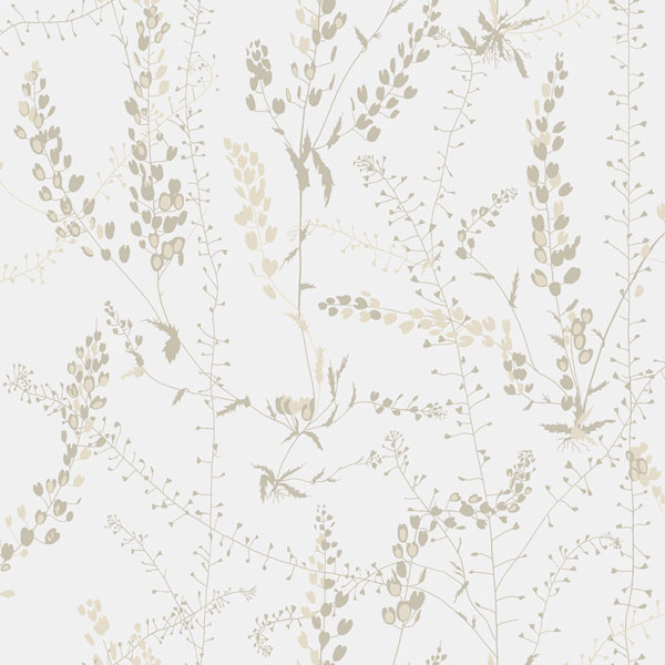 Papel pintado Blandranker en color beige de la colección Scandinavian Designers II de Borastapeter