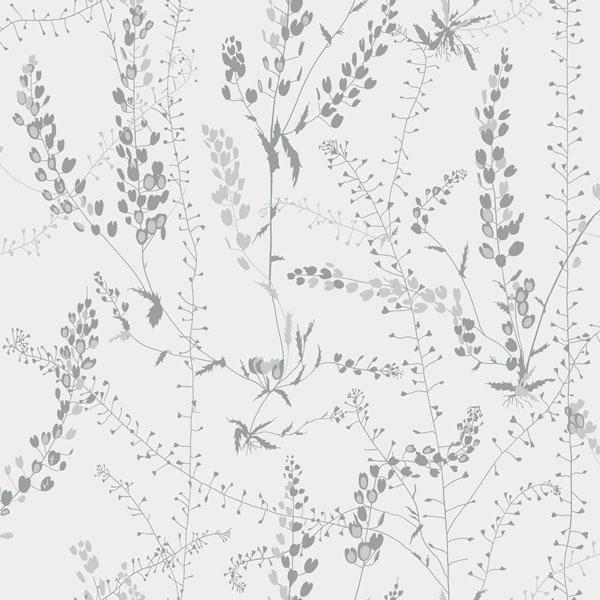 Papel pintado Blandranker en color gris de la colección Scandinavian Designers II de Borastapeter