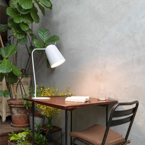 Lampara de mesa Dobi de Aromas del campo en acabado blanco mate