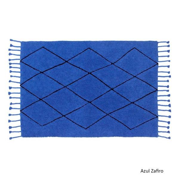 Alfombra lavable Bereber azul zafiro de Lorena Canals