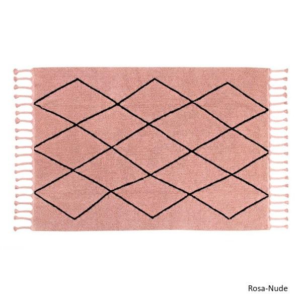 Alfombra lavable Bereber rosa de Lorena Canals