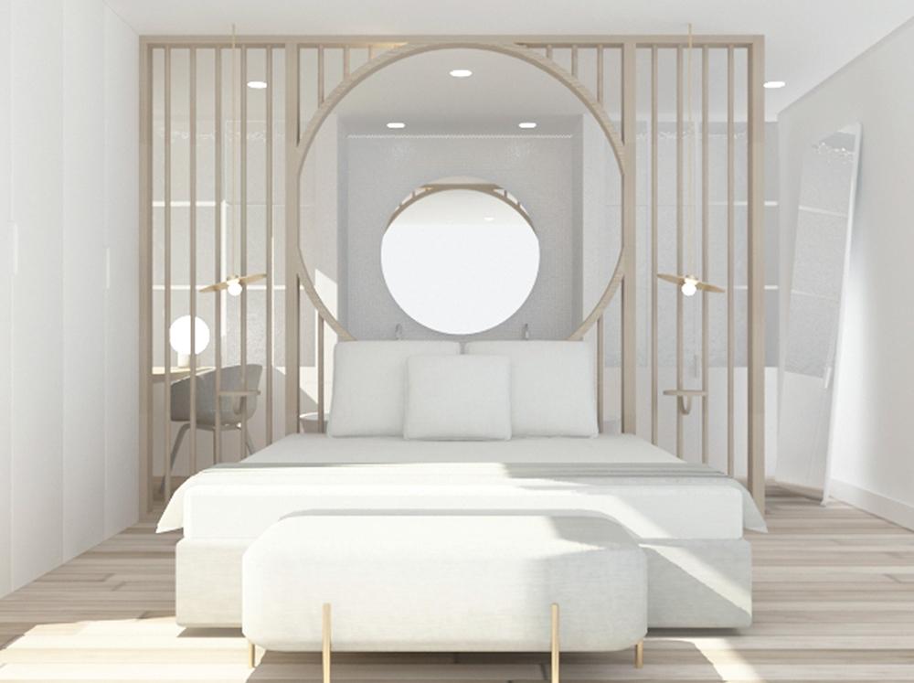 diseño de una habitación de hotel