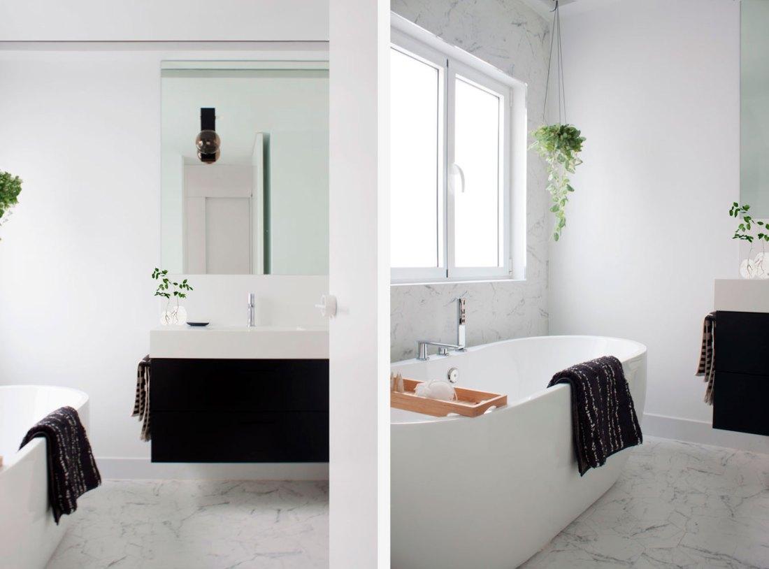 baño principal con bañera exenta