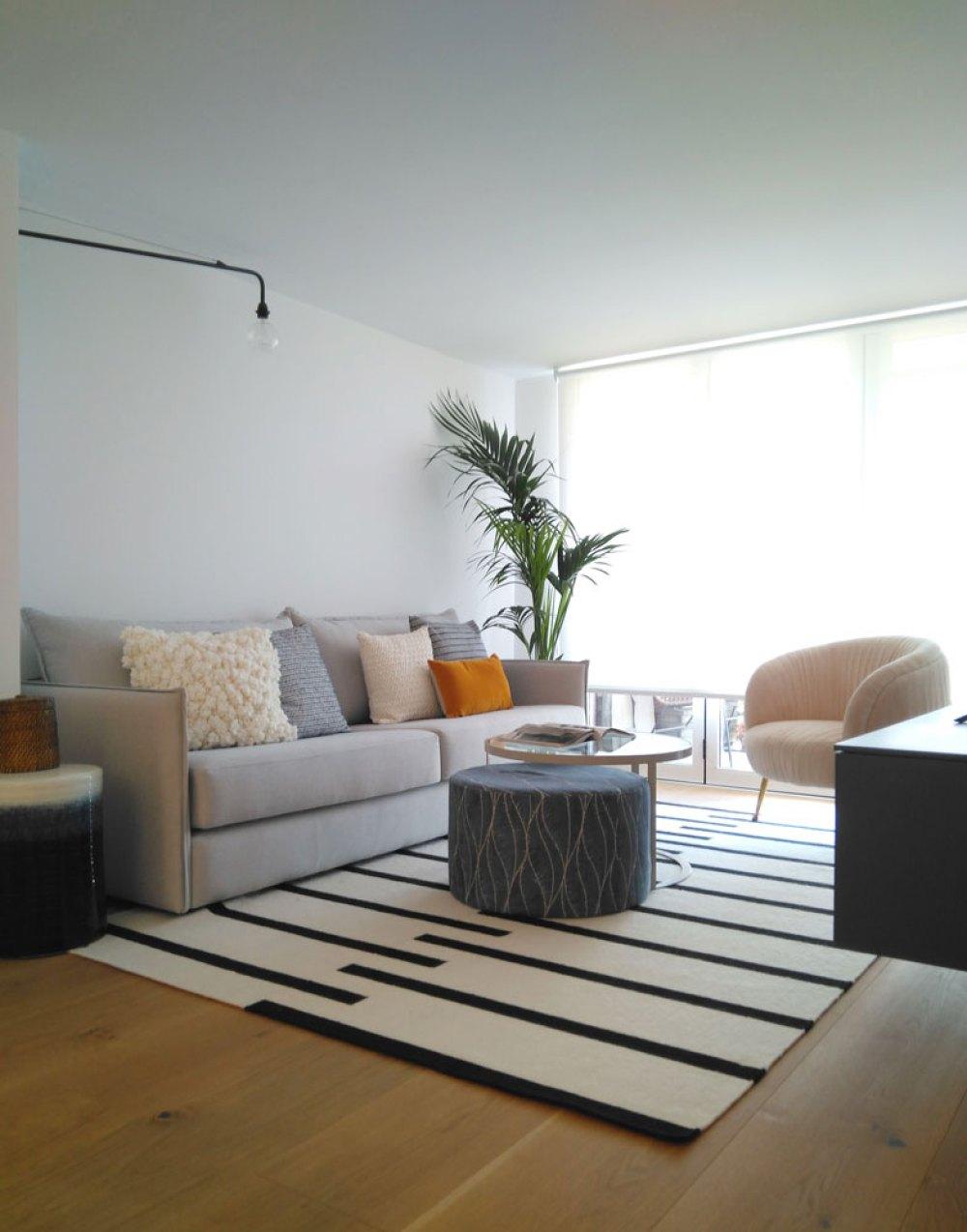 salon de un piso diseñado en Madrid