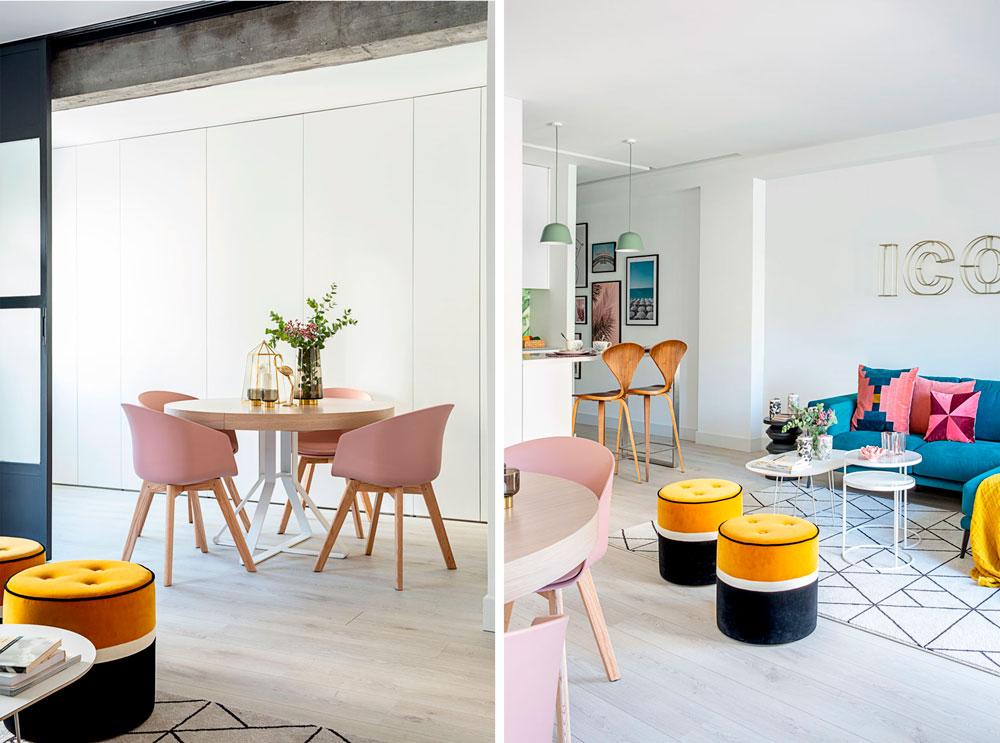 reforma integral de un piso en el centro de Madrid por Deleite Design