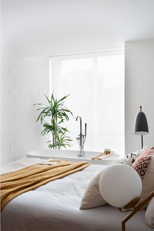 dormitorio rpirncipal diseñado por deleite design