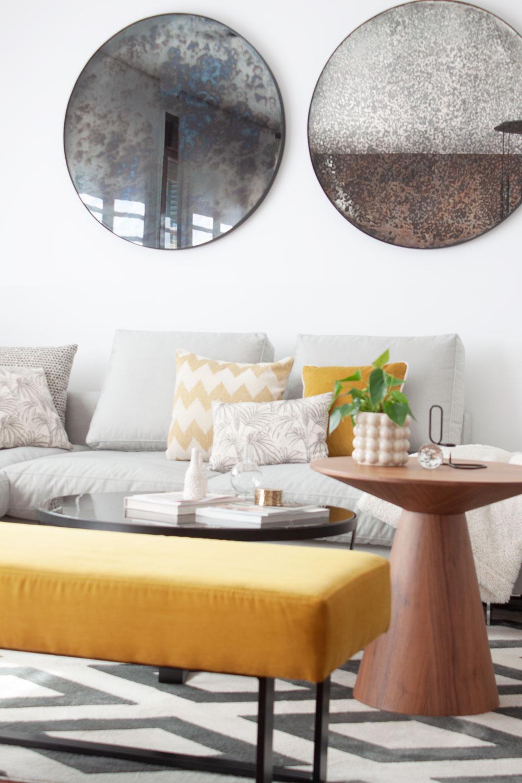 sofa diseñado a medida por Deleite Design
