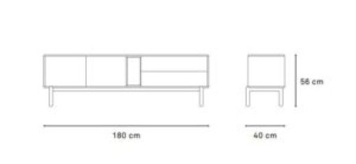 medidas mueble tele corvo