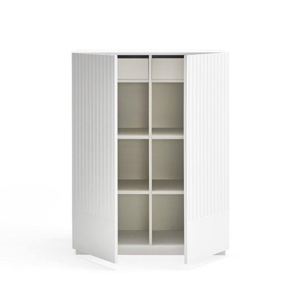 armario Doric blanco de Teulat abierto