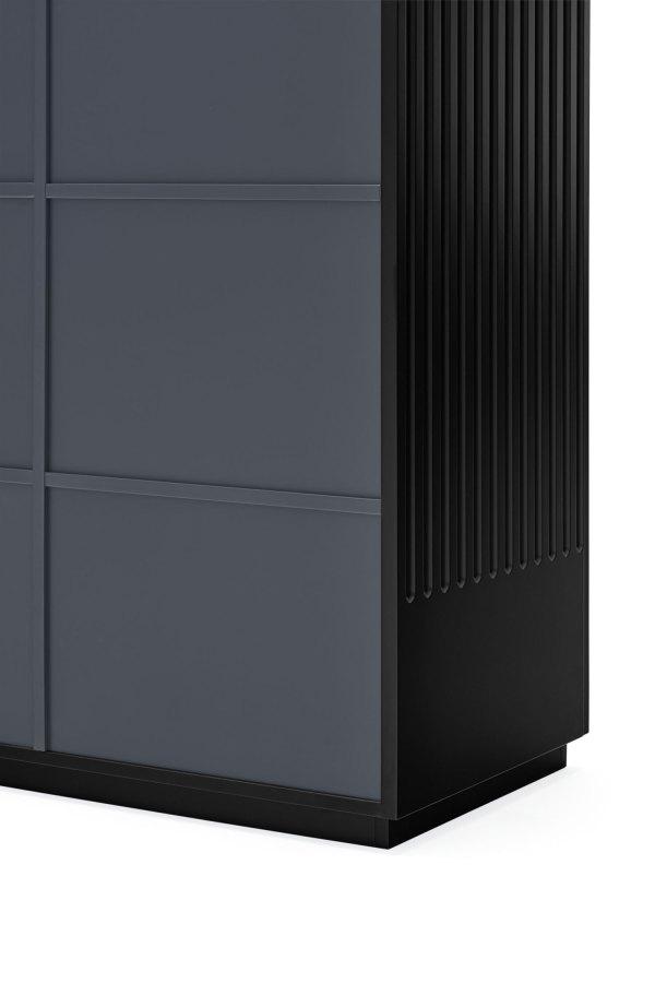 detalle trasera armario Doric negro de Teulat