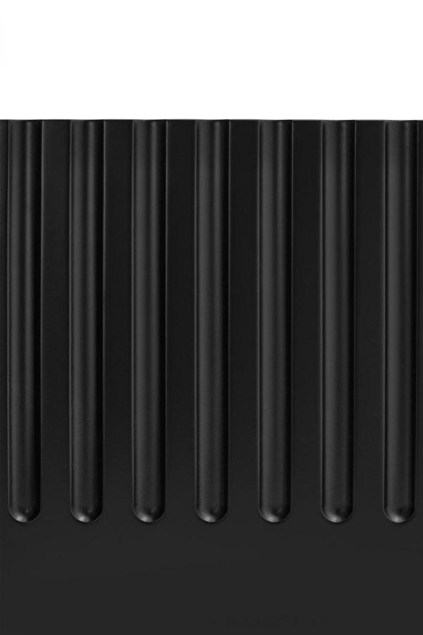 detalle fresado mueble de tv Doric negro de Teulat