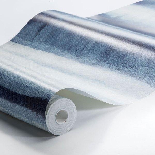 rollo de papel habotai stripe en tonos azules
