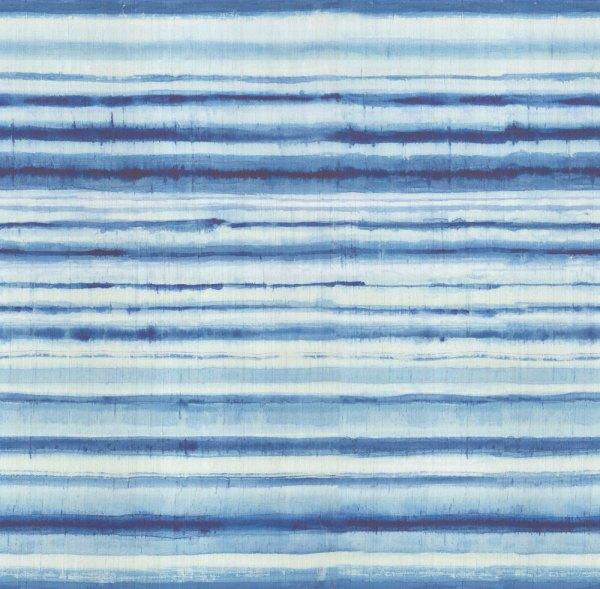 mural habotai de líneas desdibujadas en tonos azules