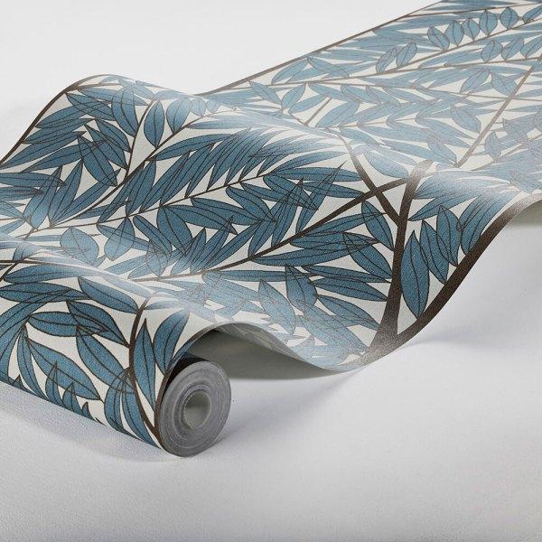 rollo de papel pintado del mural korgpil de viola grasten azul