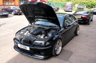 BMW E46 Swap V10 M5 …Tueuse de pneus !capotouvertswap
