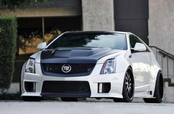 Cadillac CTSV D3 coupe blanc noir