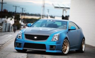Cadillac CTSV D3 coupe bleu
