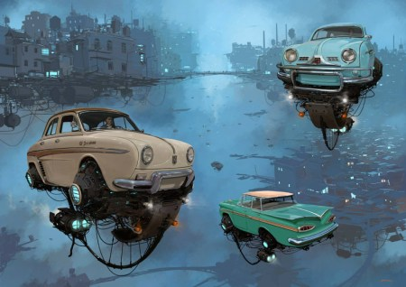 DLEDMV - Universe Scrap Flying Vintage Cars - 07