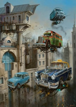 DLEDMV - Universe Scrap Flying Vintage Cars - 20