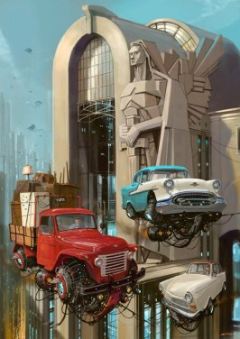 DLEDMV - Universe Scrap Flying Vintage Cars - 22