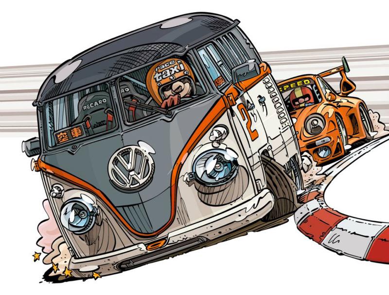 DLEDMV - VW COmbi FB1 Race Taxi - 11