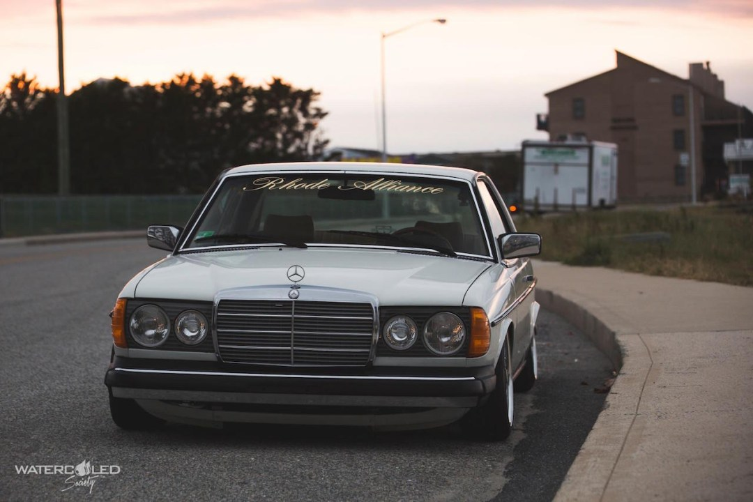 Mercedes 280 CE bagged... My classic is fantastic ! 39