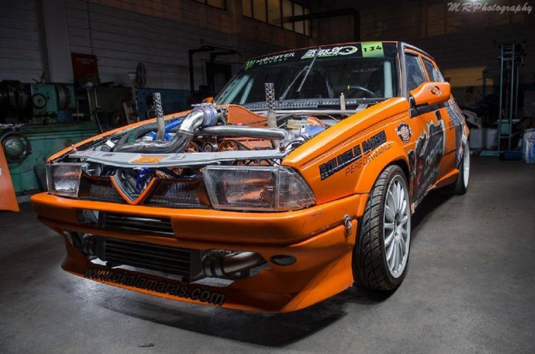 Alfa 75 V6 Biturbo - Ah ça drifte aussi ?! 1