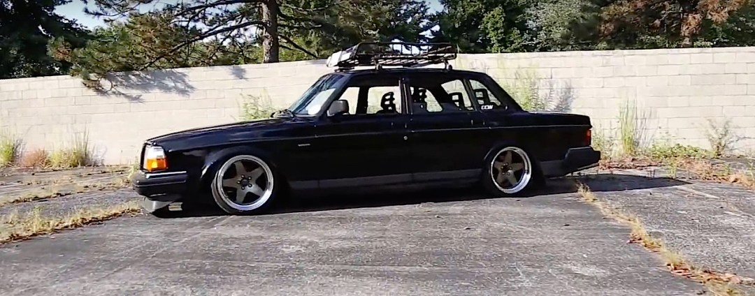Slammed Volvo 240 - Blake in black ! 16
