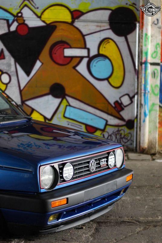 DLEDMV La Volkswagen Golf II swap III GTI de Florian 04