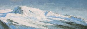 Ecume - huile sur toile - 150x50cm