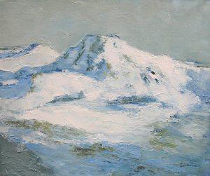 Nebuleuse - huile sur toile - 65x54cm - collection particulière