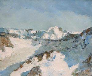 Glacier du borgne - huile sur toile - 65x54cm - collection particulière
